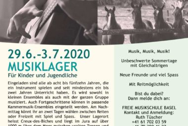 Musiklager 29.6. – 3.7.